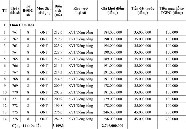 Ngày 19/6/2020, đấu giá quyền sử dụng đất tại huyện Quảng Ninh, tỉnh Quảng Bình ảnh 1
