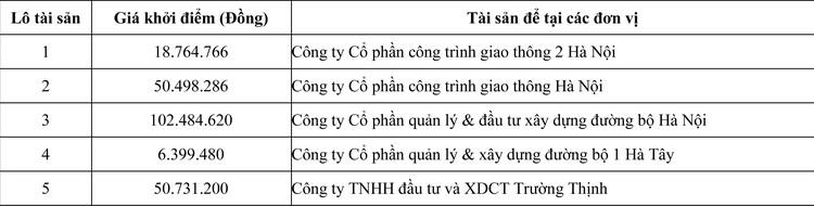 Ngày 15/6/2020, đấu giá vật tư thu hồi không sử dụng tại Hà Nội ảnh 1