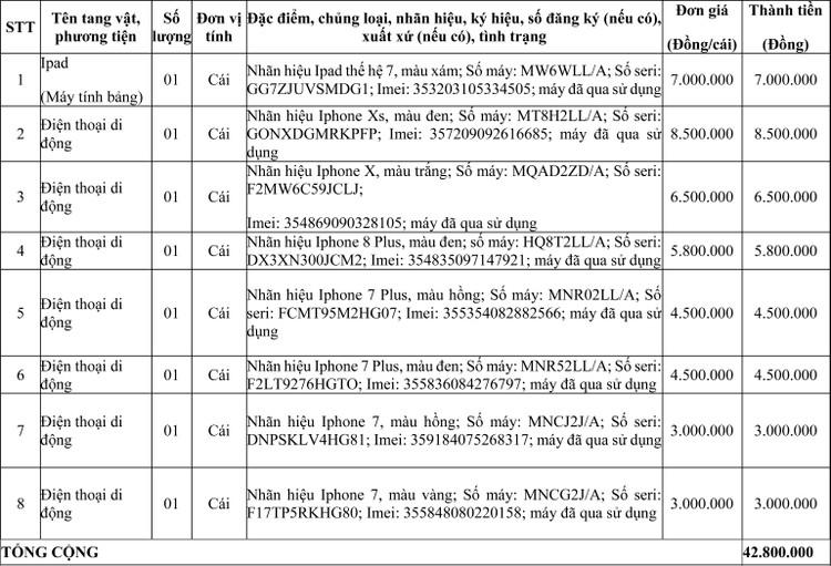 Ngày 10/6/2020, đấu giá tang vật vi phạm hành chính bị tịch thu tại tỉnh Quảng Bình ảnh 1