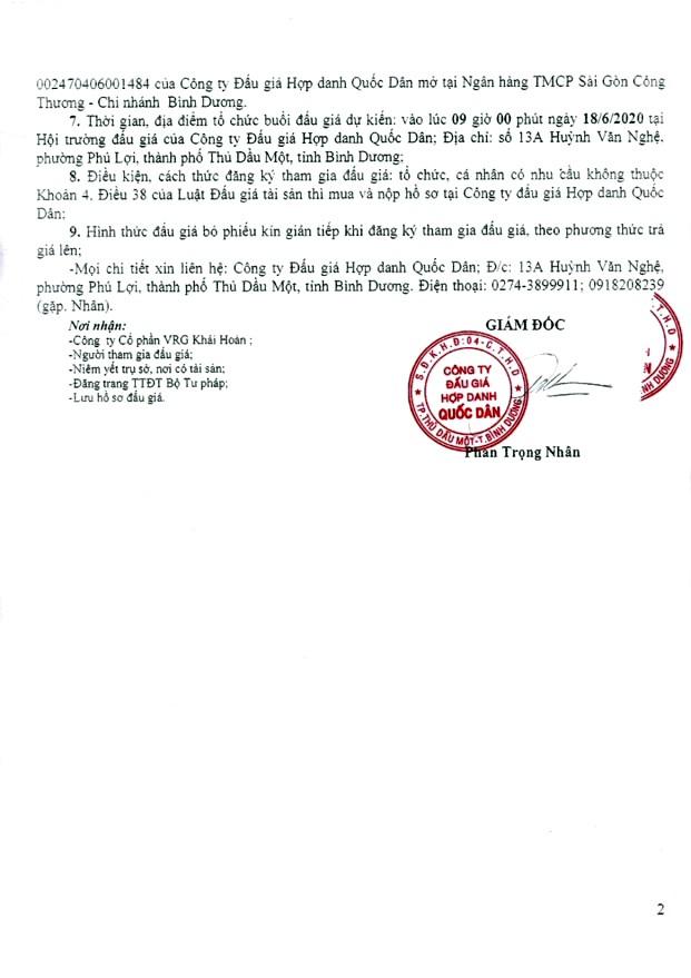 Ngày 18/6/2020, đấu giá găng tay tồn kho tại tỉnh Bình Dương ảnh 2