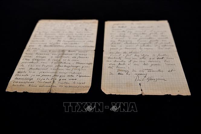 Đấu giá bức thư viết tay của danh họa Vincent Van Gogh và Paul Gauguin ảnh 1