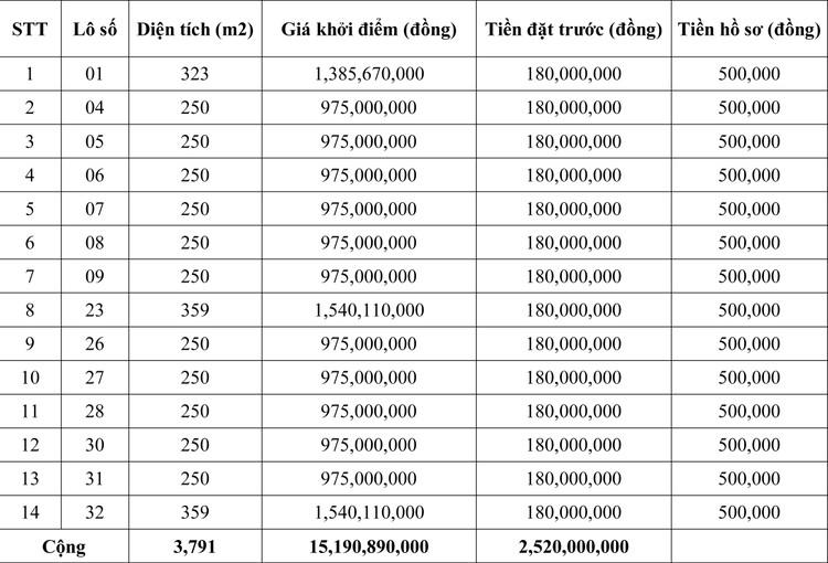 Ngày 12/7/2020, đấu giá quyền sử dụng đất tại huyện Cam Lộ, tỉnh Quảng Trị ảnh 1