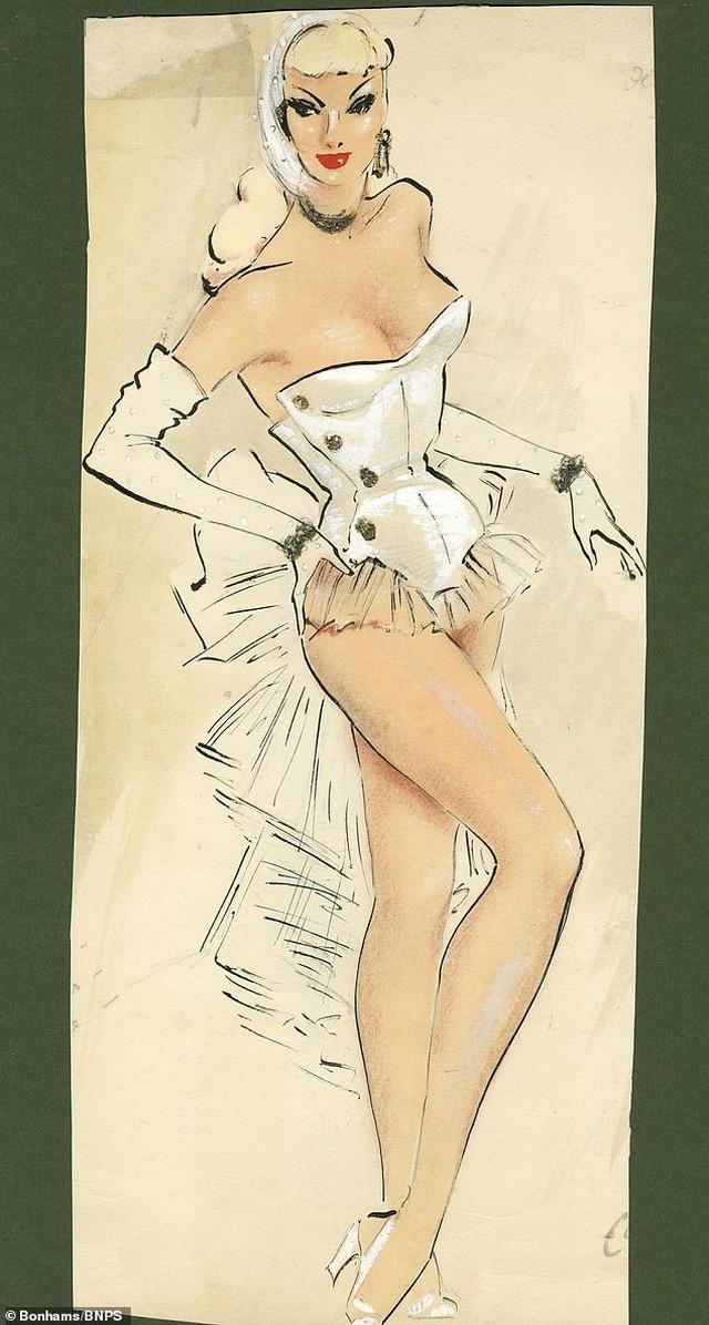 Đấu giá những bức phác họa phục trang gợi cảm của vũ nữ thập niên 1960 ảnh 3