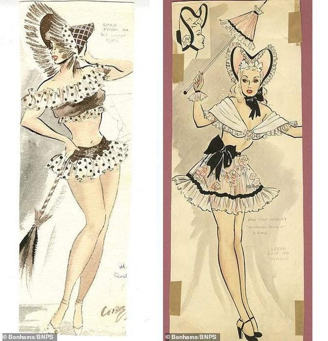 Đấu giá những bức phác họa phục trang gợi cảm của vũ nữ thập niên 1960 ảnh 4