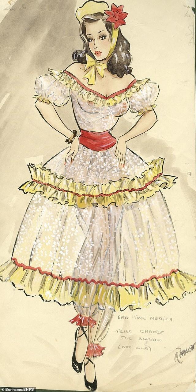 Đấu giá những bức phác họa phục trang gợi cảm của vũ nữ thập niên 1960 ảnh 5
