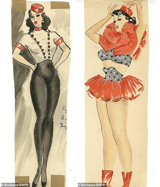Đấu giá những bức phác họa phục trang gợi cảm của vũ nữ thập niên 1960 ảnh 6