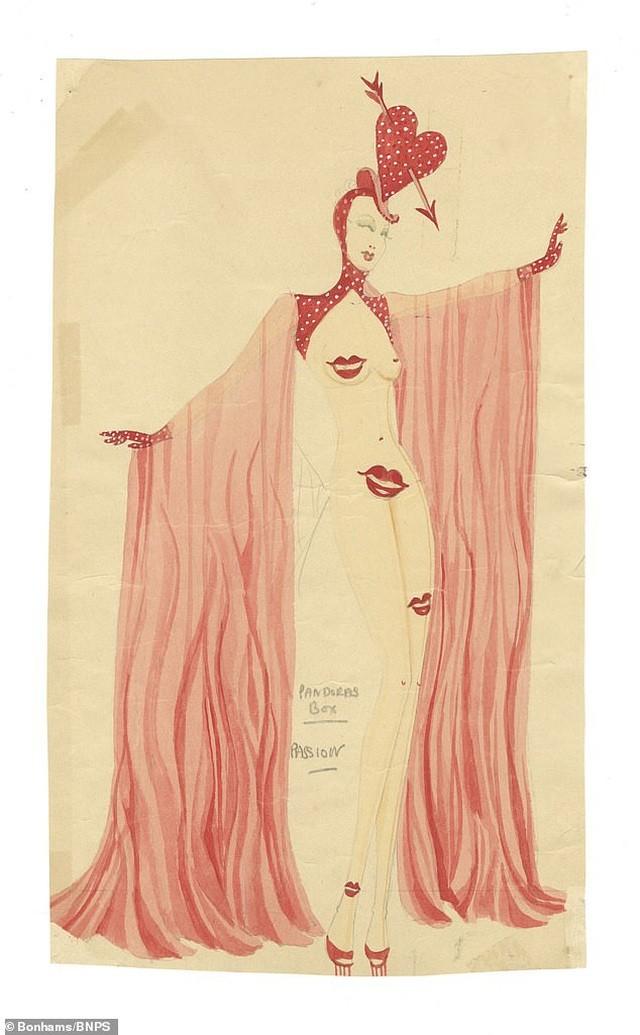 Đấu giá những bức phác họa phục trang gợi cảm của vũ nữ thập niên 1960 ảnh 7