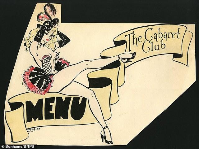 Đấu giá những bức phác họa phục trang gợi cảm của vũ nữ thập niên 1960 ảnh 8