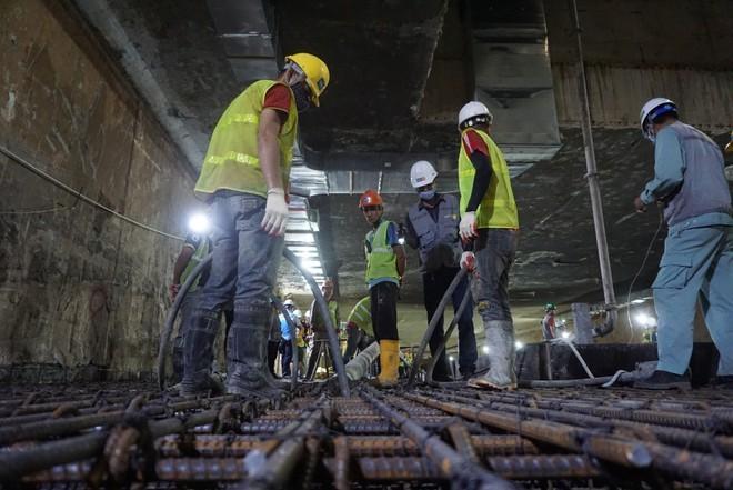 Hợp long ga ngầm đầu tiên đường sắt Nhổn - ga Hà Nội ảnh 3