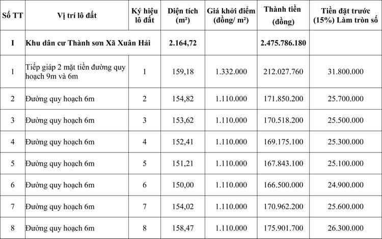 Ngày 26/7/2020, đấu giá quyền sử dụng đất tại huyện Ninh Hải, tỉnh Ninh Thuận  ảnh 1