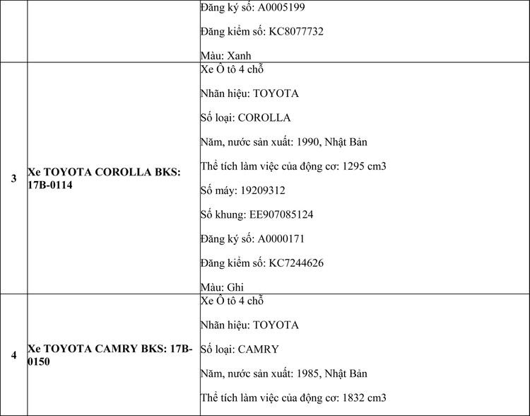 Ngày 16/7/2020, đấu giá 08 xe ôtô tại tỉnh Thái Bình  ảnh 3