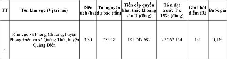 Ngày 7/8/2020, đấu giá quyền khai thác mỏ khoáng sản tại tỉnh Thừa Thiên Huế ảnh 7