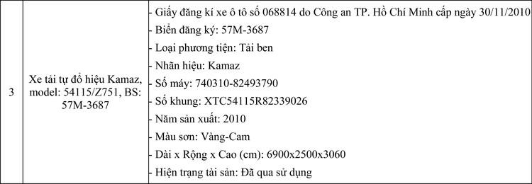 Ngày 8/7/2020, đấu giá 03 xe tải tự đổ hiệu Kamaz tại TPHCM  ảnh 2