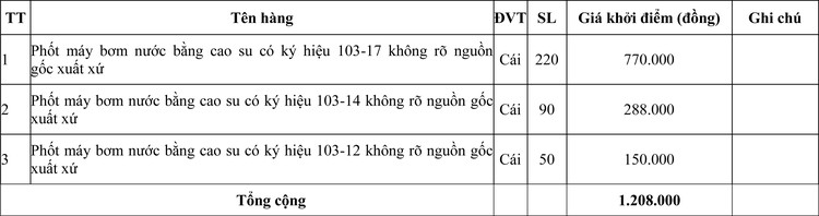 Ngày 20/7/2020, đấu giá hàng hóa tịch thu tại tỉnh Quảng Trị ảnh 1