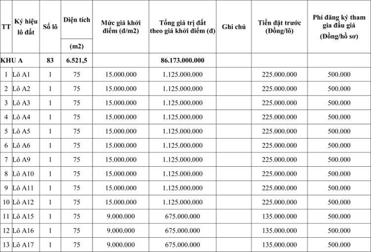 Ngày 30/7/2020, đấu giá quyền sử dụng đất tại thành phố Thanh Hóa, tỉnh Thanh Hóa ảnh 1
