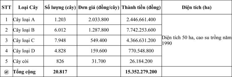 Ngày 27/7/2020, đấu giá lô cây Cao su thanh lý tại tỉnh Đắk Lắk ảnh 1