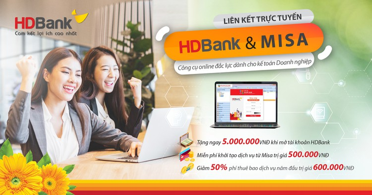 HDBank và MISA kết hợp triển khai dịch vụ ngân hàng số trên phần mềm kế toán ảnh 1