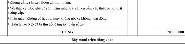 Ngày 10/8/2020, đấu giá lô xe thanh lý tại tỉnh Thanh Hóa ảnh 6