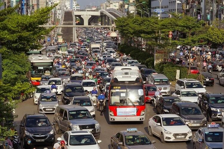 Cận cảnh đường Vành đai 2 trên cao ở Thủ đô sắp thông xe dịp 2/9 ảnh 11