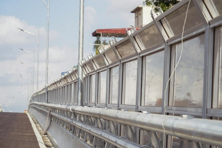 Cận cảnh đường Vành đai 2 trên cao ở Thủ đô sắp thông xe dịp 2/9 ảnh 5