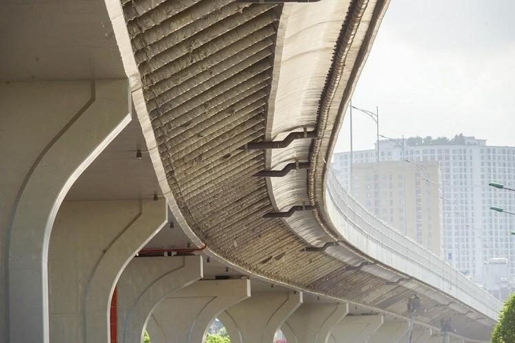 Cận cảnh đường Vành đai 2 trên cao ở Thủ đô sắp thông xe dịp 2/9 ảnh 6