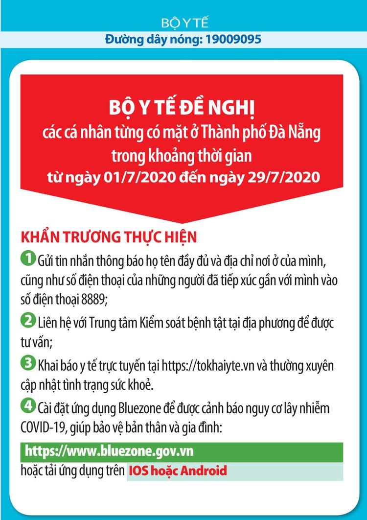 Dịch Covid-19: Từ ngày 1 - 29/7, những ai đã đến TP Đà Nẵng cần nghiêm túc làm việc sau ảnh 1