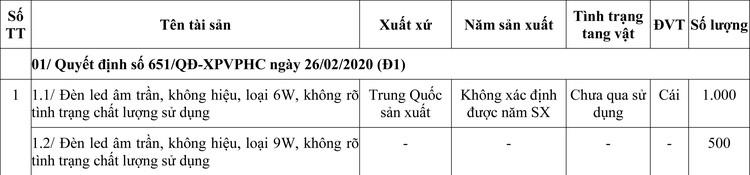 Ngày 3/9/2020, đấu giá hàng hóa tịch thu sung quỹ tại TPHCM ảnh 1