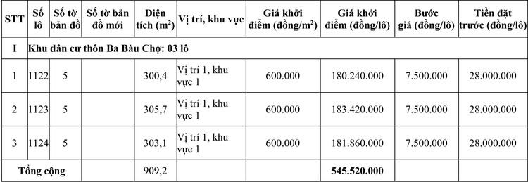 Ngày 2/10/2020, đấu giá quyền sử dụng đất tại huyện Phong Điền, tỉnh Thừa Thiên Huế ảnh 1