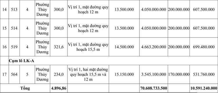 Ngày 25/9/2020, đấu giá quyền sử dụng đất tại thị xã Hương Thủy, tỉnh Thừa Thiên Huế ảnh 3