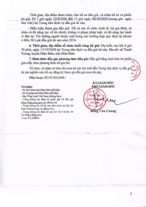 Ngày 13/10/2020, đấu giá xe ô tô Toyota tại tỉnh Điện Biên ảnh 2