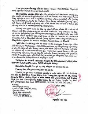 Ngày 15/10/2020, đấu giá cho thuê mặt bằng tại chợ xã Nghĩa Thắng, tỉnh Quảng Ngãi ảnh 3