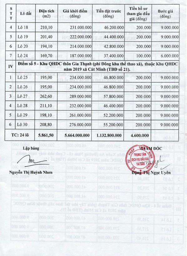 Ngày 23/10/2020, đấu giá quyền sử dụng đất tại huyện Phù Cát, tỉnh Bình Định ảnh 2