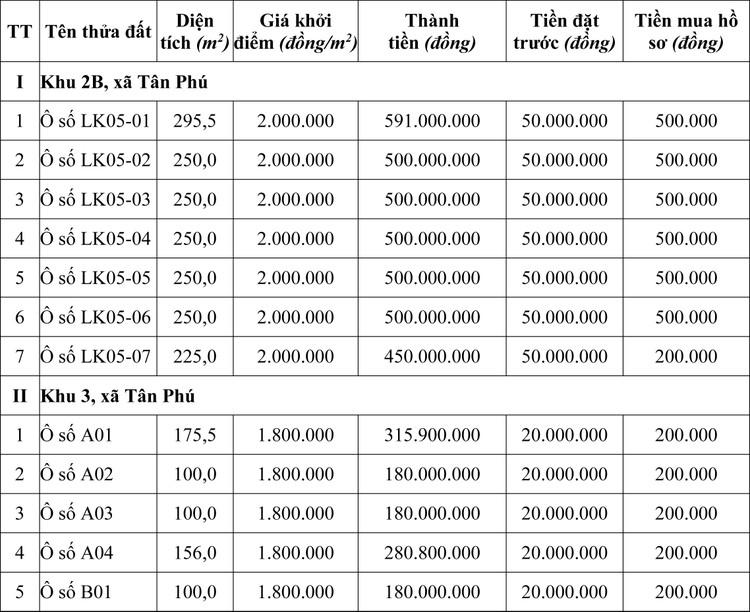 Ngày 22/10/2020, đấu giá quyền sử dụng đất tại huyện Tân Sơn, tỉnh Phú Thọ ảnh 1