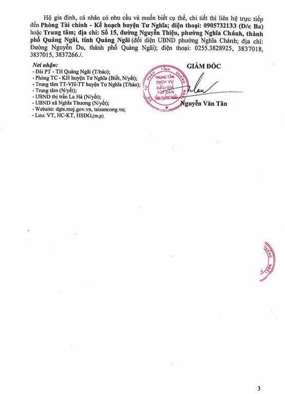 Ngày 16/10/2020, đấu giá quyền sử dụng đất tại huyện Tư Nghĩa, tỉnh Quảng Ngãi ảnh 3