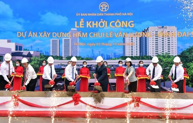 Hà Nội khởi công hầm chui gần 700 tỷ qua nút giao Lê Văn Lương - Vành đai 3 ảnh 2