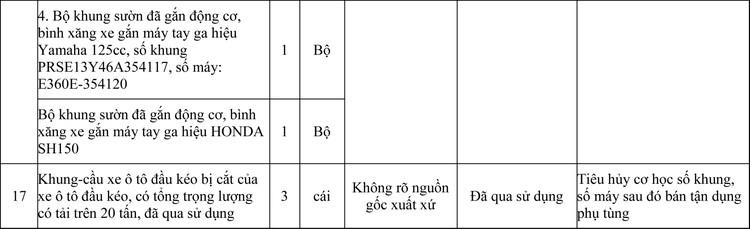 Ngày 26/10/2020, đấu giá 02 Lô tang vật, phương tiện vi phạm hành chính bị tịch thu tại TPHCM ảnh 4