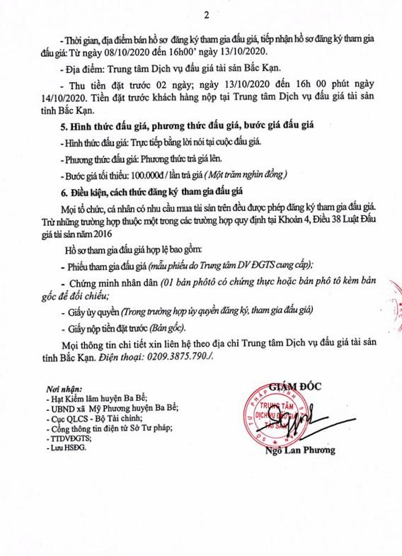 Ngày 15/10/2020, đấu giá tang vât, phương tiện vi phạm hành chính bị tịch thu tại tỉnh Bắc Kạn ảnh 2