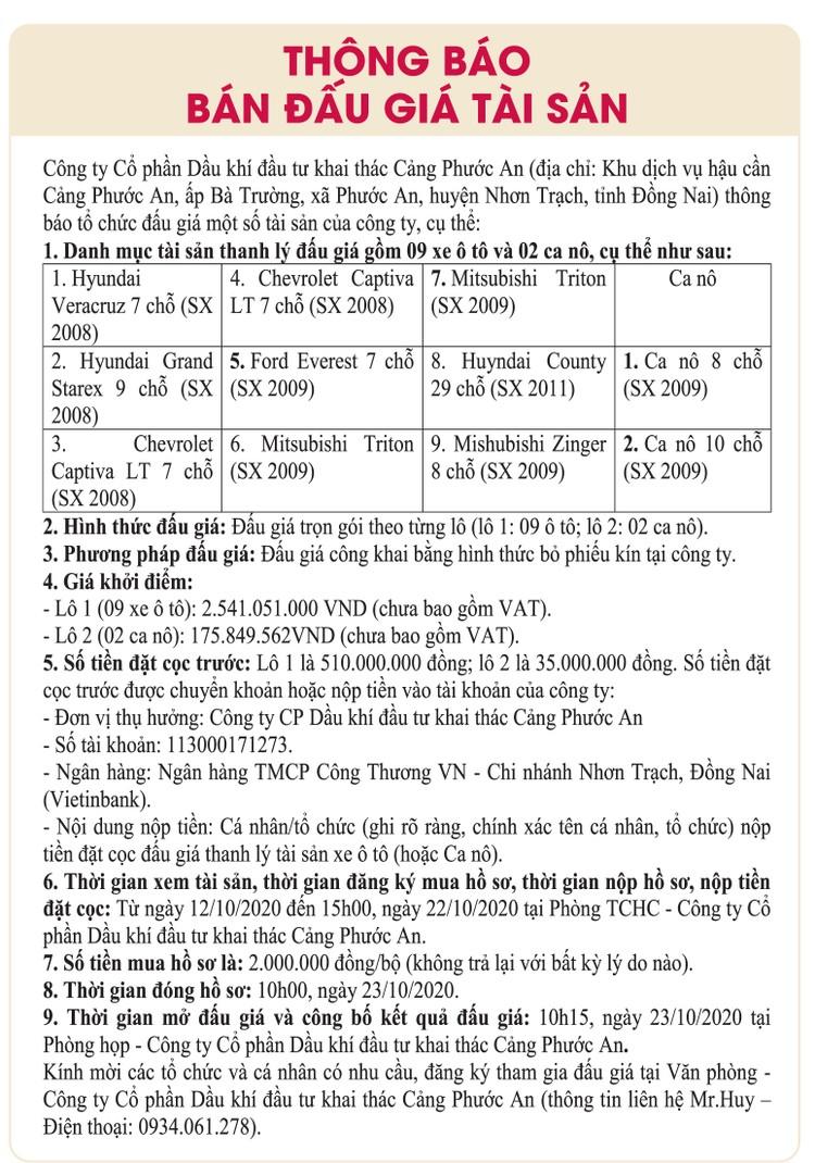Ngày 23/10/2020, đấu giá xe ô tô và ca nô tại tỉnh Đồng Nai ảnh 1