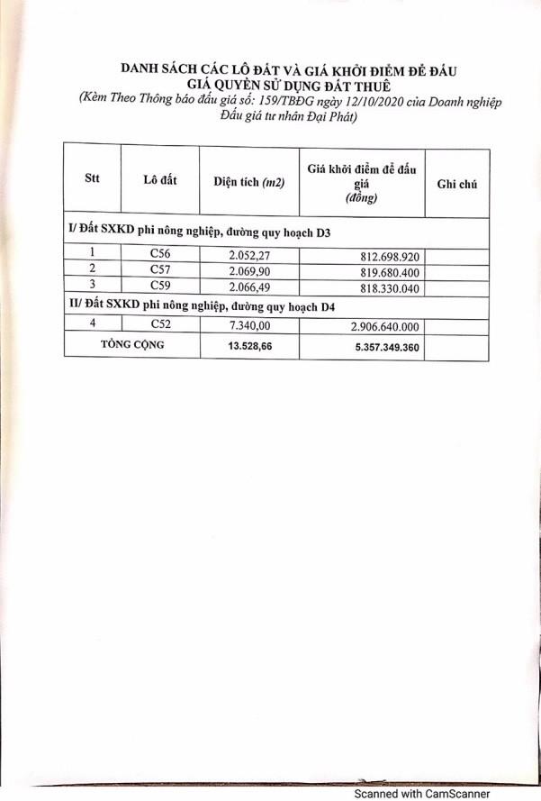 Ngày 5/11/2020, đấu giá quyền sử dụng đất thuê tại thành phố Pleiku, tỉnh Gia Lai ảnh 1