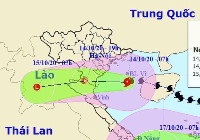 Bão số 7 vào vùng biển Thái Bình - Nghệ An, bắt đầu suy yếu ảnh 1