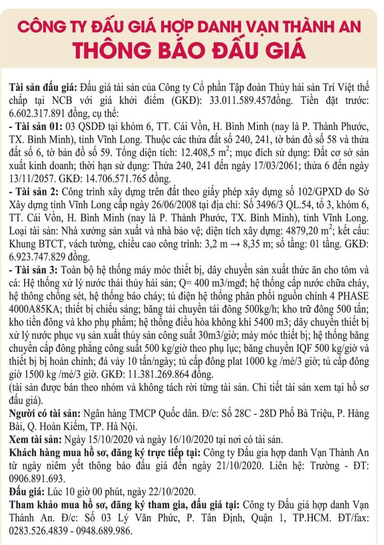Ngày 22/10/2020, đấu giá quyền sử dụng đất, công trình xây dựng và máy móc thiết bị tại thị xã Bình Minh, tỉnh Vĩnh Long ảnh 1