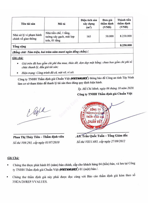 Ngày 5/11/2020, đấu giá thanh lý tháo dỡ vật tư thu hồi các hạng mục tại tỉnh Tây Ninh ảnh 2