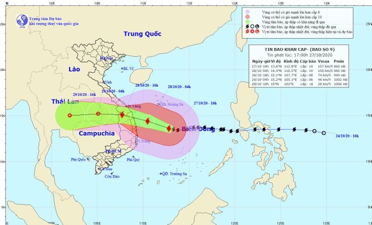 Thủ tướng Chính phủ ban hành công điện về khẩn trương ứng phó bão số 9 ảnh 1