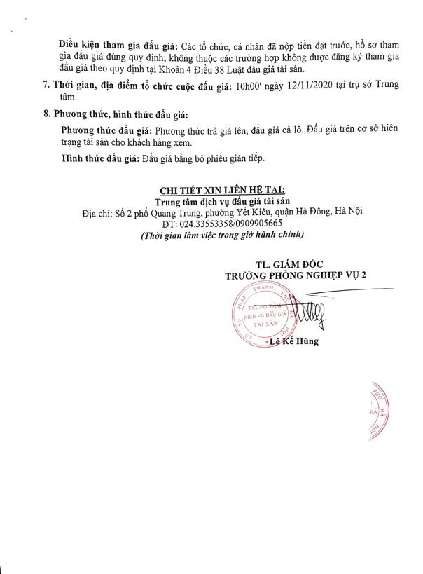 Ngày 12/11/2020, đấu giá 2 xe ô tô tại Hà Nội ảnh 2