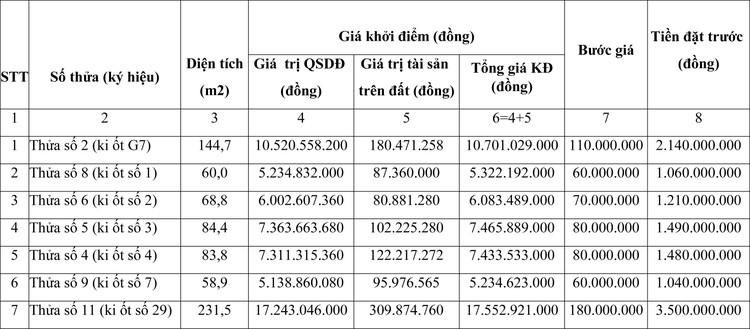 Ngày 19/11/2020, đấu giá quyền sử dụng đất tại thành phố Gia Nghĩa, tỉnh Đăk Nông ảnh 1