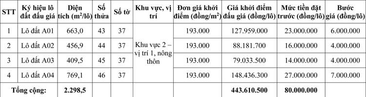 Ngày 19/11/2020, đấu giá quyền sử dụng đất tại huyện Phú Lộc, tỉnh Thừa Thiên Huế ảnh 1