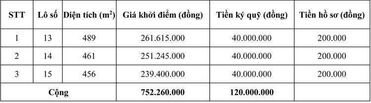 Ngày 17/11/2020, đấu giá quyền sử dụng đất tại huyện Cam Lộ, tỉnh Quảng Trị ảnh 1