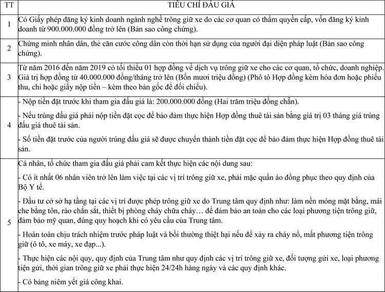Ngày 3/12/2020, đấu giá cho thuê mặt bằng làm dịch vụ trông giữ xe tại Trung tâm Y tế huyện Tiên Du, tỉnh Bắc Ninh ảnh 1