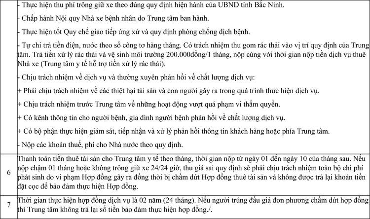 Ngày 3/12/2020, đấu giá cho thuê mặt bằng làm dịch vụ trông giữ xe tại Trung tâm Y tế huyện Tiên Du, tỉnh Bắc Ninh ảnh 2