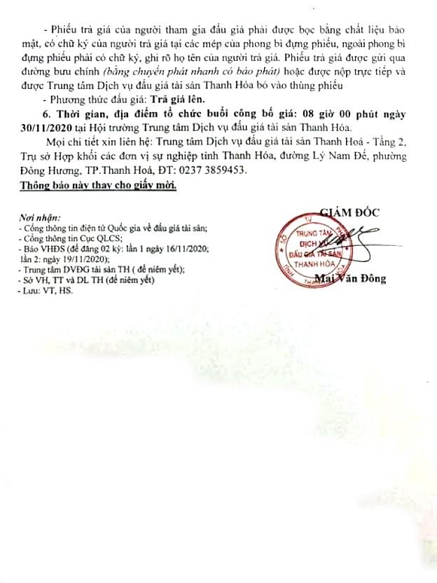 Ngày 30/11/2020, đấu giá xe ô tô Mitsubishi tại tỉnh Thanh Hóa ảnh 2